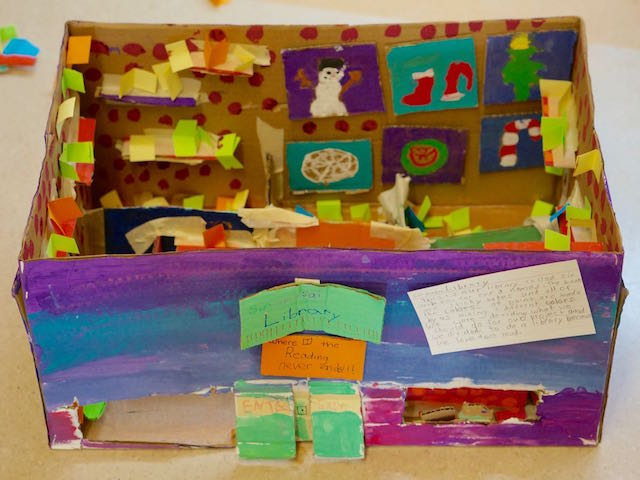 Div. 8 and 9's Cardboard Creations